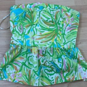 Lilly Pulitzer Peplum Top Like New